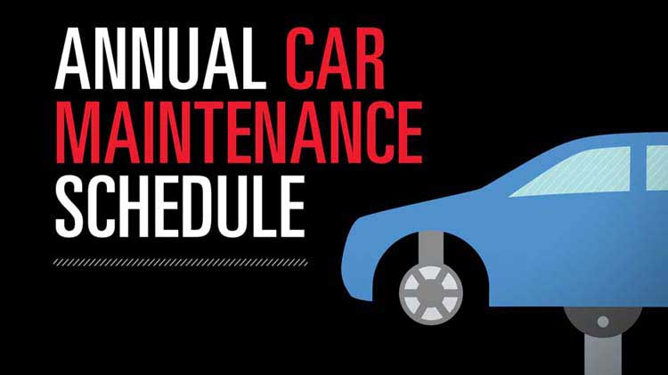 Annual Car Maintenance Schedule